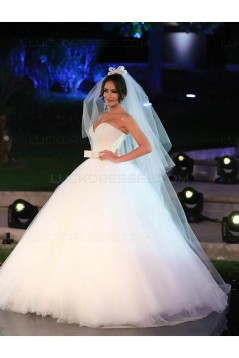 Ball Gown Sweetheart Tulle Wedding Dresses Bridal Gowns 3030100
