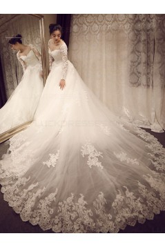 Long Sleeves Lace Wedding Dresses Bridal Gowns 3030118