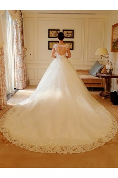 Lace Bridal Ball Gown Keyhole Back Wedding Dresses Bridal Gowns 3030120