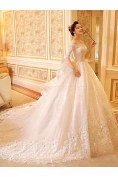Lace Bridal Ball Gown Off-the-Shoulder Wedding Dresses Bridal Gowns 3030121