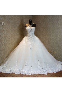 Sparkly Lace Bridal Ball Gown Crystal Wedding Dresses Bridal Gowns 3030123