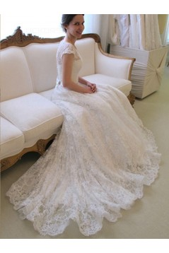 A-Line Lace Bridal Wedding Dresses Bridal Gowns 3030125