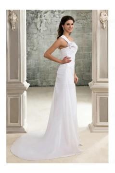 Sheath One-Shoulder Wedding Dresses Bridal Gowns 3030128