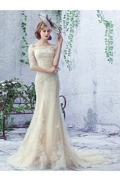 Mermaid Off-the-Shoulder Lace Wedding Dresses Bridal Gowns 3030132