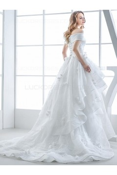 Ball Gown Off-the-Shoulder Lace Wedding Dresses Bridal Gowns 3030135