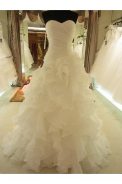 Sweetheart Court Train Wedding Dresses Bridal Gowns 3030138