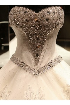 Ball Gown Sweetheart Crystal Lace Wedding Dresses Bridal Gowns 3030140
