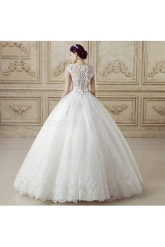 Ball Gown Lace Tulle Wedding Dresses Bridal Gowns 3030142