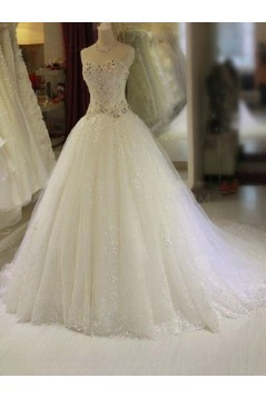 Tulle Ball Gown Sparkly Wedding Dresses Bridal Gowns 3030146