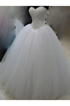 Ball Gown Sparkly Tulle Sweetheart Wedding Dresses Bridal Gowns 3030150