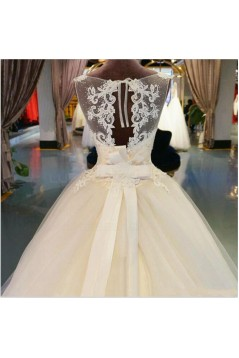 Ball Gown Illusion Neckline Lace Wedding Dresses Bridal Gowns 3030152