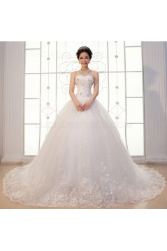 Ball Gown Strapless Lace Wedding Dresses Bridal Gowns 3030154