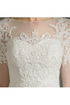 A-Line Long Sleeves Lace Wedding Dresses Bridal Gowns 3030157