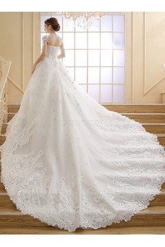 Ball Gown Sweetheart Lace Crystal Wedding Dresses Bridal Gowns 3030167
