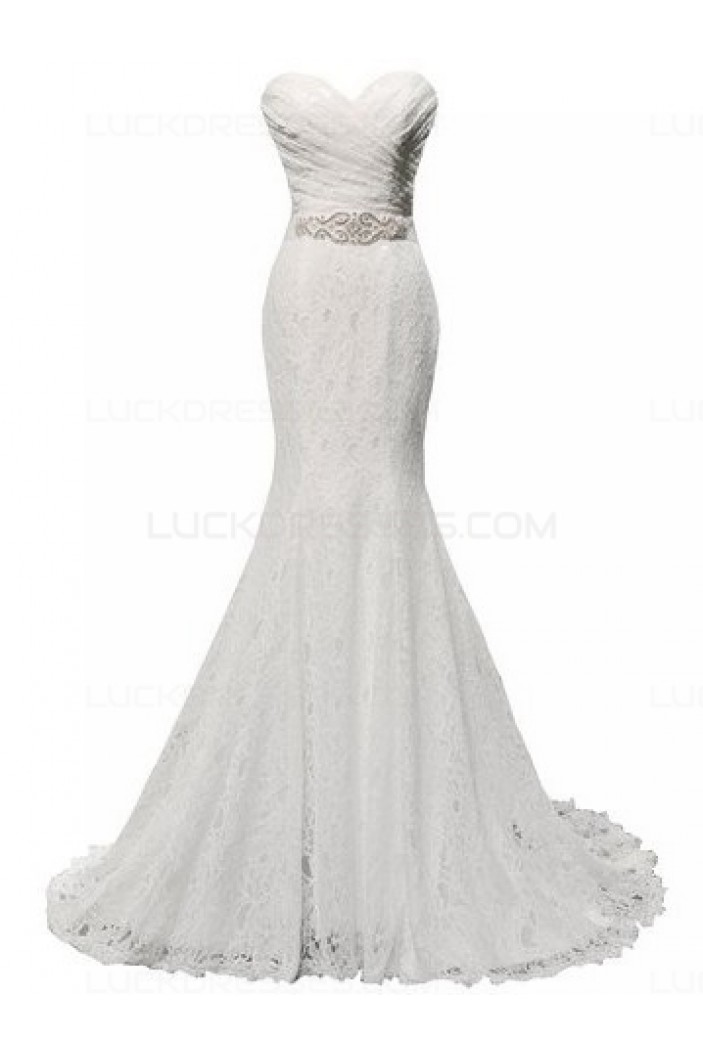 Lace Mermaid Sweetheart Wedding Dresses Bridal Gowns 3030168