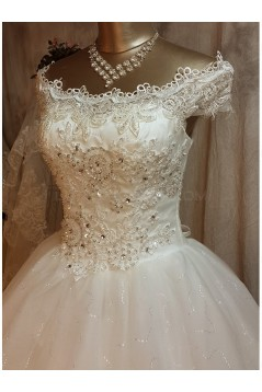 Ball Gown Off-the-Shoulder Lace Wedding Dresses Bridal Gowns 3030170