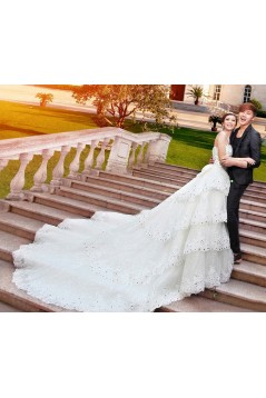 Ball Gown Crystal Lace Wedding Dresses Bridal Gowns 3030182