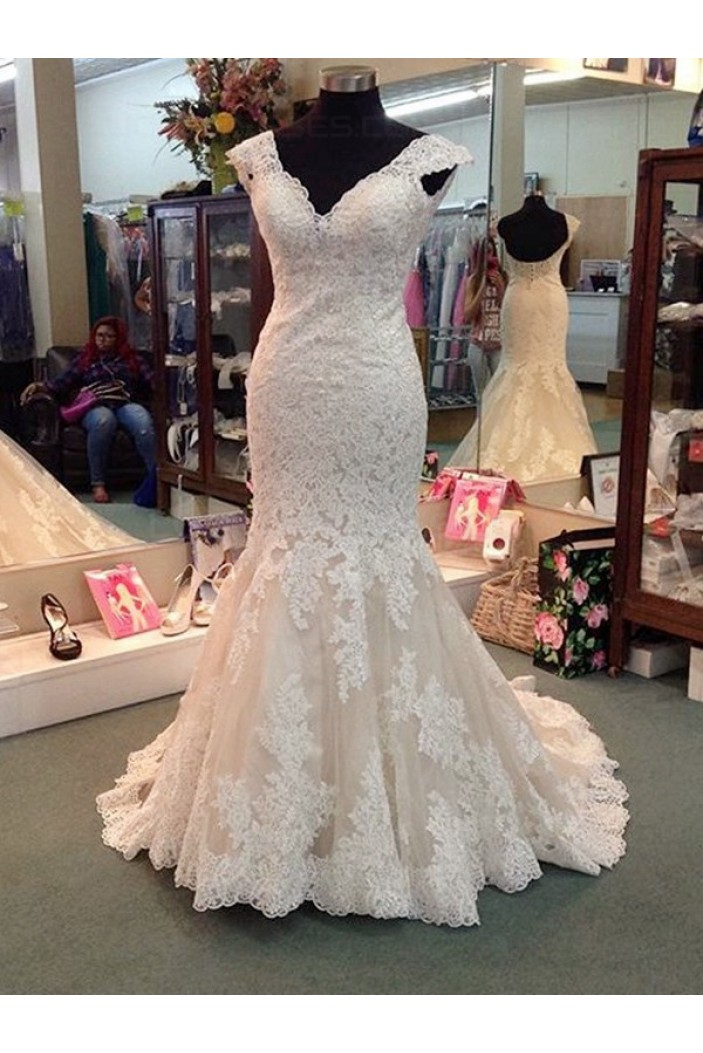 Lace Mermaid Wedding Dresses Bridal Gowns 3030183