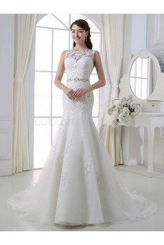 Mermaid Sleeveless Lace Wedding Dresses Bridal Gowns 3030190