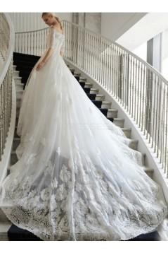 Lace Off-the-Shoulder Wedding Dresses Bridal Gowns 3030203