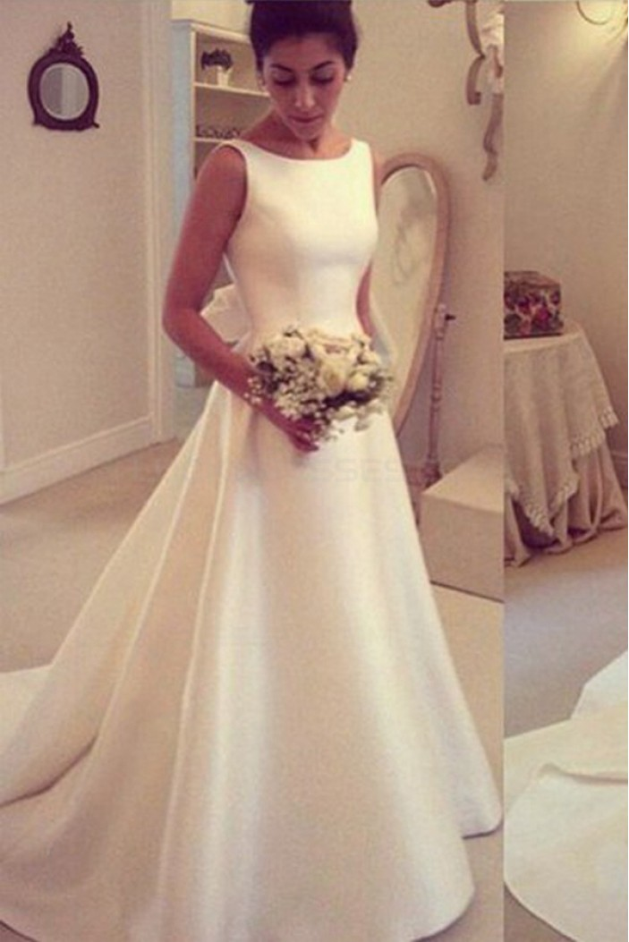 A-Line Sleeveless Wedding Dresses Bridal Gowns 3030207