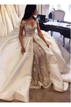 Lace Satin Wedding Dresses Bridal Gowns 3030210