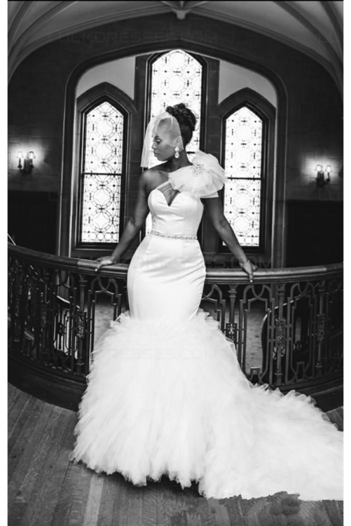Mermaid One-Shoulder Wedding Dresses Bridal Gowns 3030225