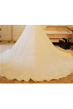 A-Line Long Sleeves Lace Wedding Dresses Bridal Gowns 3030229