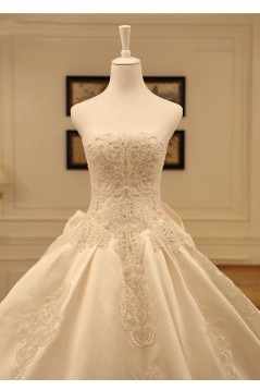 Ball Strapless Lace Wedding Dresses Bridal Gowns 3030230