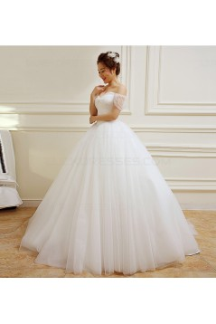 Ball Gown Off-the-Shoulder Wedding Dresses Bridal Gowns 3030236
