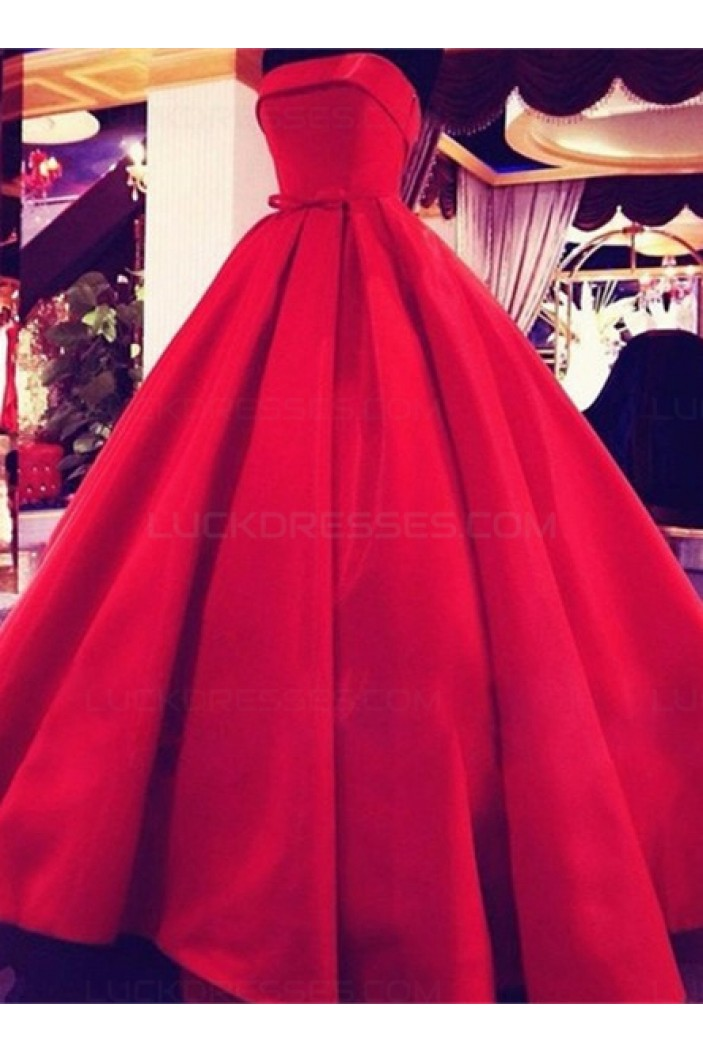 Ball Gown Strapless Red Wedding Dresses Bridal Gowns 3030241