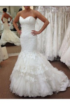 Mermaid Sweetheart Lace Wedding Dresses Bridal Gowns 3030248