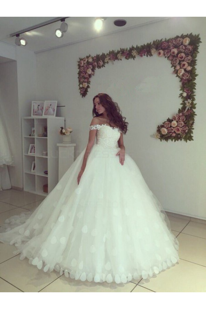 Ball Gown Off-the-Shoulder Wedding Dresses Bridal Gowns 3030250