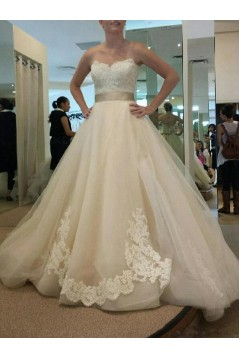 A-Line Sweetheart Lace Wedding Dresses Bridal Gowns 3030255
