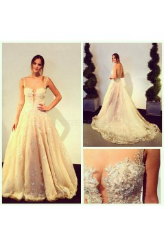 A-Line Sheer Lace Wedding Dresses Bridal Gowns 3030272