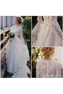 Long Sleeves Lace Wedding Dresses Bridal Gowns 3030275