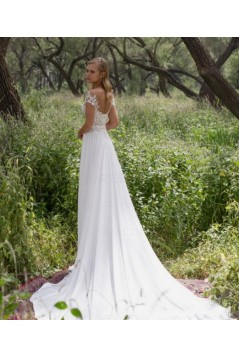 Lace Chiffon Off-the-Shoulder Wedding Dresses Bridal Gowns 3030276