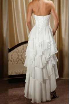High Low Chiffon Wedding Dresses Bridal Gowns 3030278