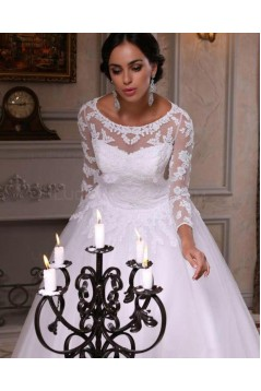 Long Sleeves Lace Wedding Dresses Bridal Gowns 3030282