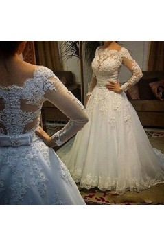 Long Sleeves Lace Wedding Dresses Bridal Gowns 3030284