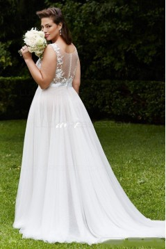 Lace Tulle Plus Size Wedding Dresses Bridal Gowns 3030286
