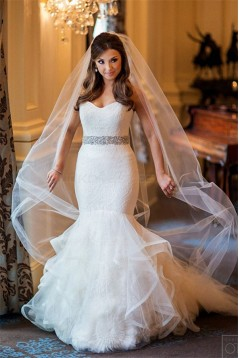 Mermaid Lace Tulle Wedding Dresses Bridal Gowns 3030307