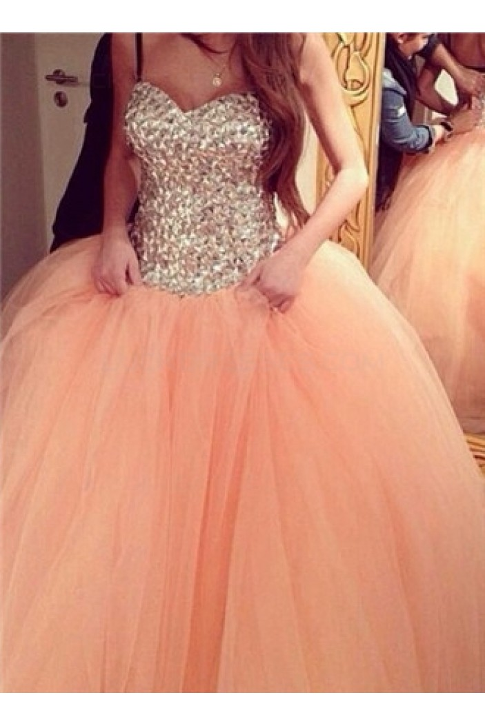 Ball Gown Sparkly Tulle Wedding Dresses Bridal Gowns 3030313