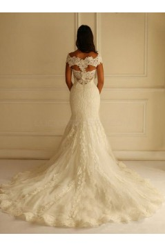 Lace Mermaid Off-the-Shoulder Wedding Dresses Bridal Gowns 3030314