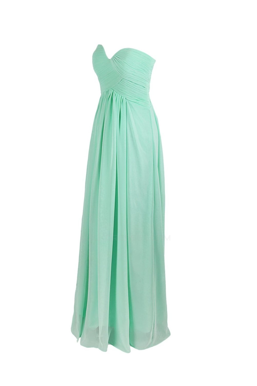 Empire Sweetheart Mint Green Long Chiffon Bridesmaid Dresses/Wedding ...