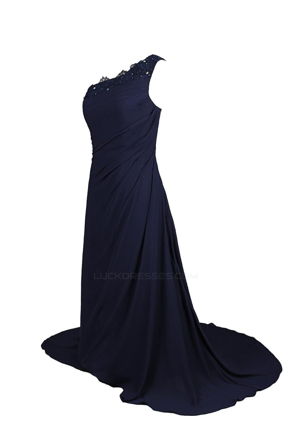 699b1266ef78 One Shoulder Navy Bridesmaid Dress