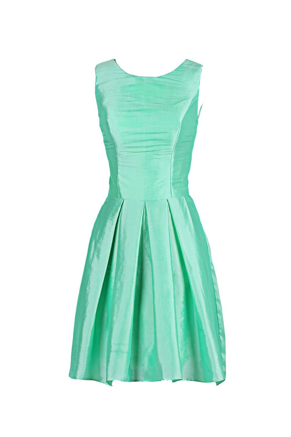 A-Line Short Green Bridesmaid Dresses/Wedding Party Dresses BD010032