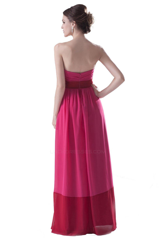 Strapless Long Chiffon Bridesmaid Dresses/Wedding Party Dresses ...