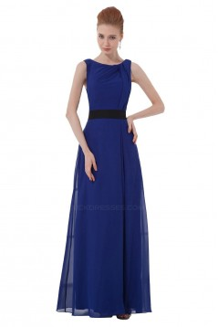 A-Line Royal Blue Long Chiffon Bridesmaid Dresses/Wedding Party Dresses BD010111