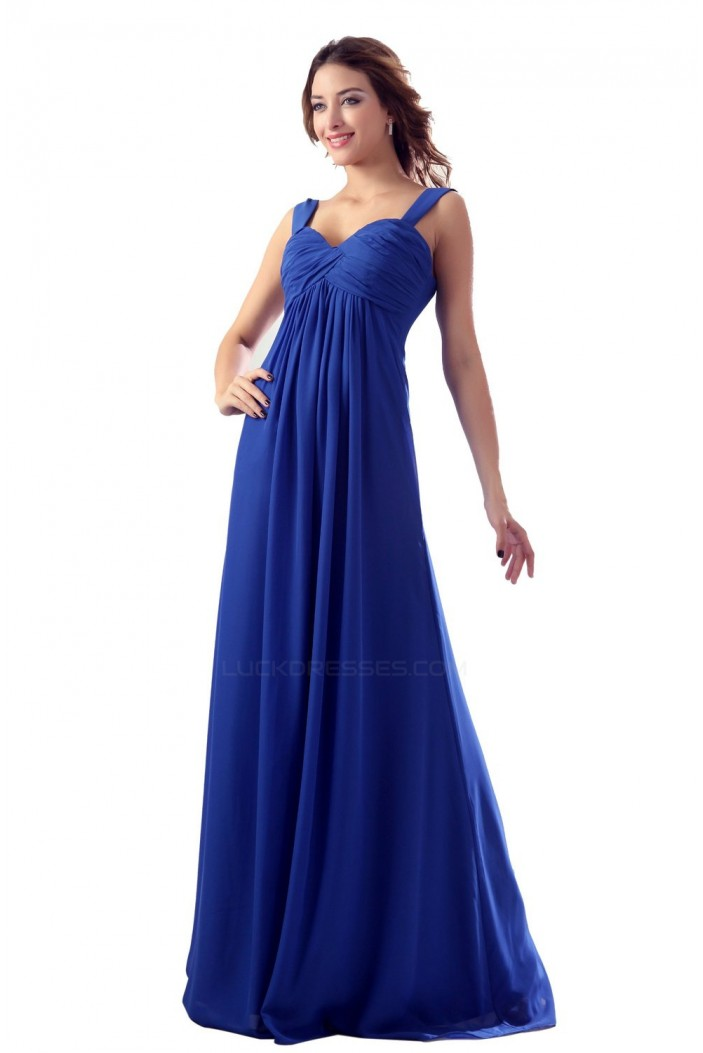 Empire Royal Blue Long Chiffon Bridesmaid Dresses Wedding Party Dresses Maternity Dresses Bd010118